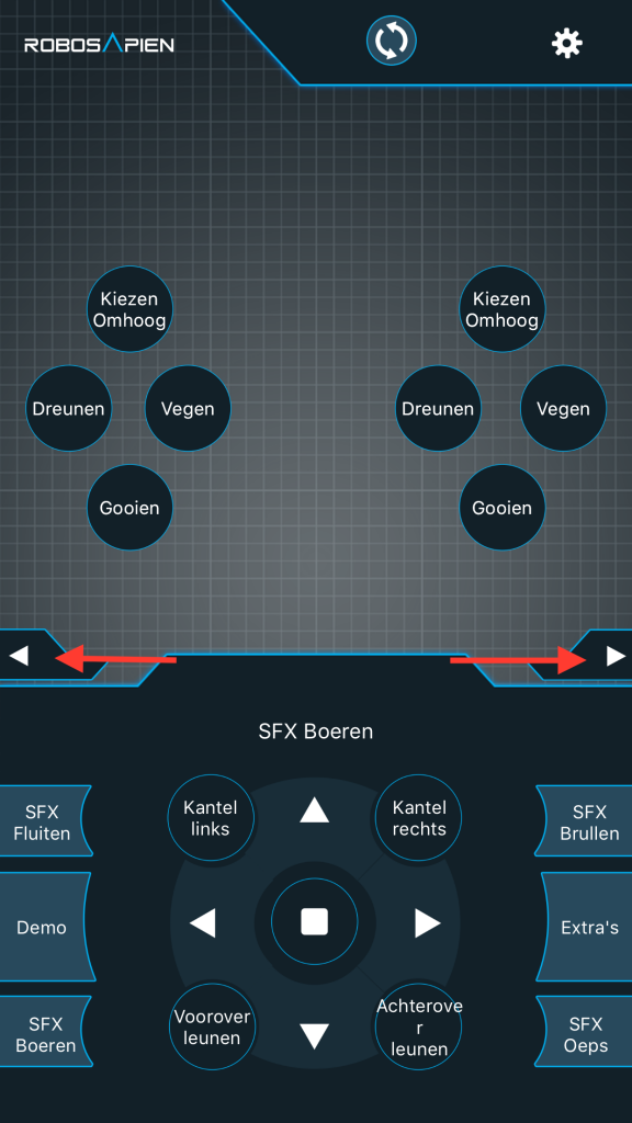 Screenshot RoboRemote Bluetooth